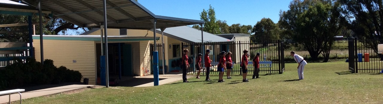 Students outside during a self defence class